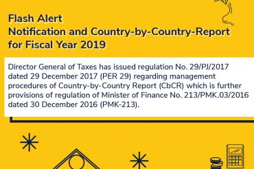 Flash Alert – Notification and Country-by-Country-Report for Fiscal Year 2019